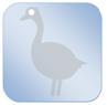 dekbedicoon-gans-blauw-klein